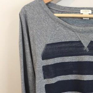J.Crew Factory Long Sleeve T-Shirt Grey & Navy M